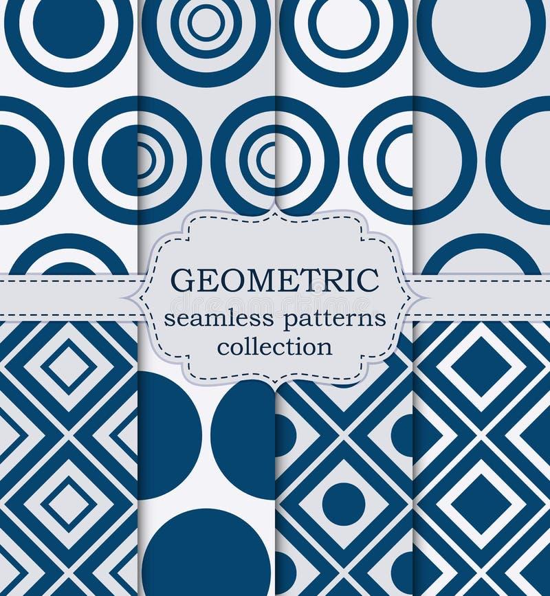 Download Insieme Dell'illustrazione Di Vettore Dei Modelli Geometrici Senza Cuciture Illustrazione Vettoriale - Illustrazione di cerchio, modo: 56891413