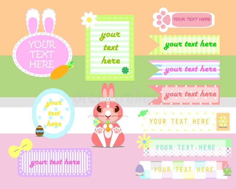 Insieme dell'insegna della casella di testo di Pasqua royalty illustrazione gratis