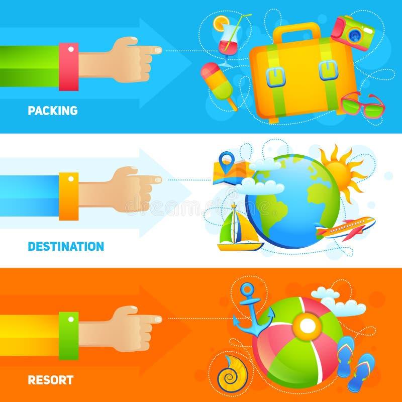 Insieme dell'insegna di vacanze estive royalty illustrazione gratis