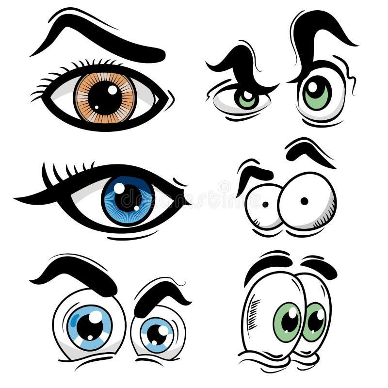 Insieme dell'occhio del fumetto illustrazione di stock
