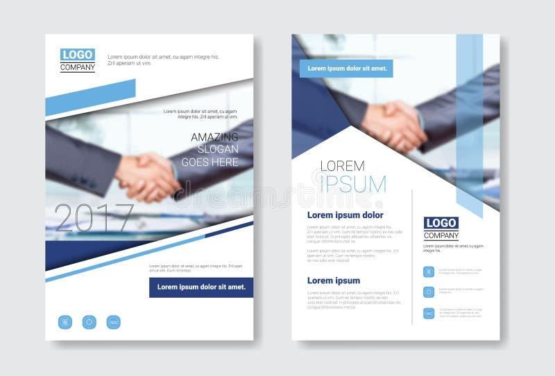 Insieme dell'opuscolo di progettazione del modello, rapporto annuale, rivista, manifesto, presentazione corporativa, cartella, ra royalty illustrazione gratis