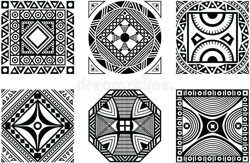 Insieme dell'ornamento africano royalty illustrazione gratis