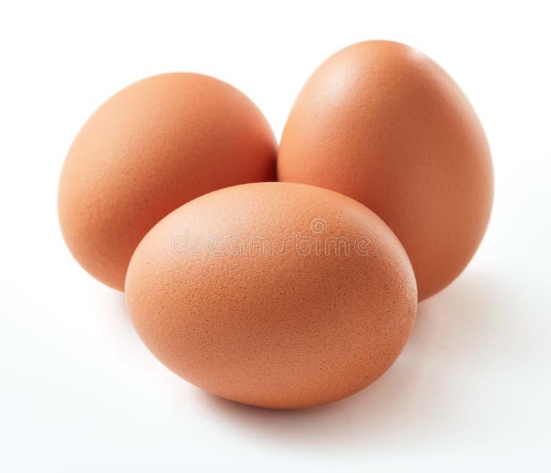 Insieme dell'uovo isolato fotografie stock