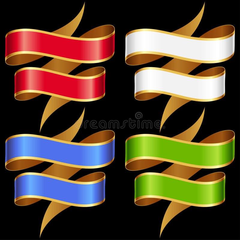 Insieme della bandiera dei nastri di vettore royalty illustrazione gratis