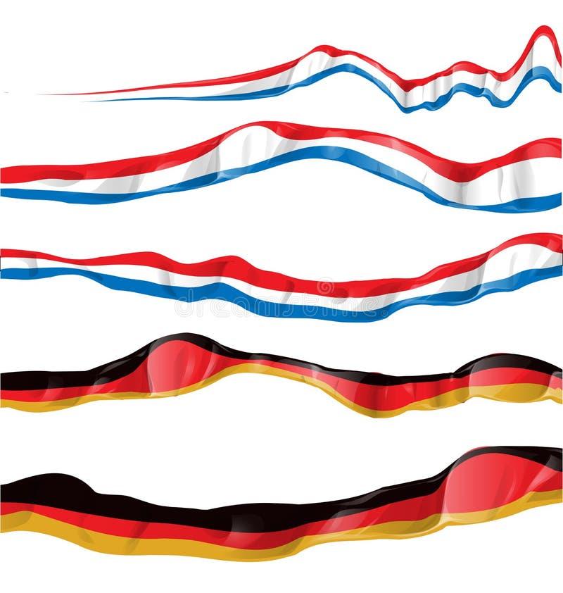 Insieme della bandiera della Germania e della Francia illustrazione di stock