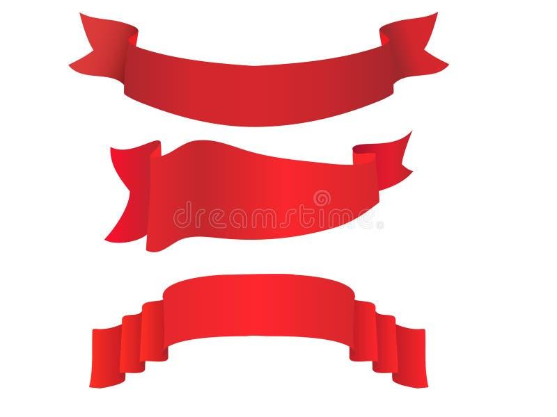 Insieme della bandiera di vettore illustrazione vettoriale