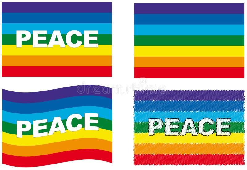 Insieme della bandierina di pace illustrazione vettoriale