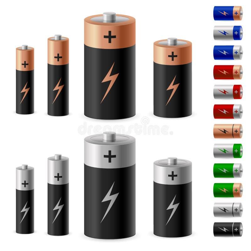 Insieme della batteria illustrazione di stock