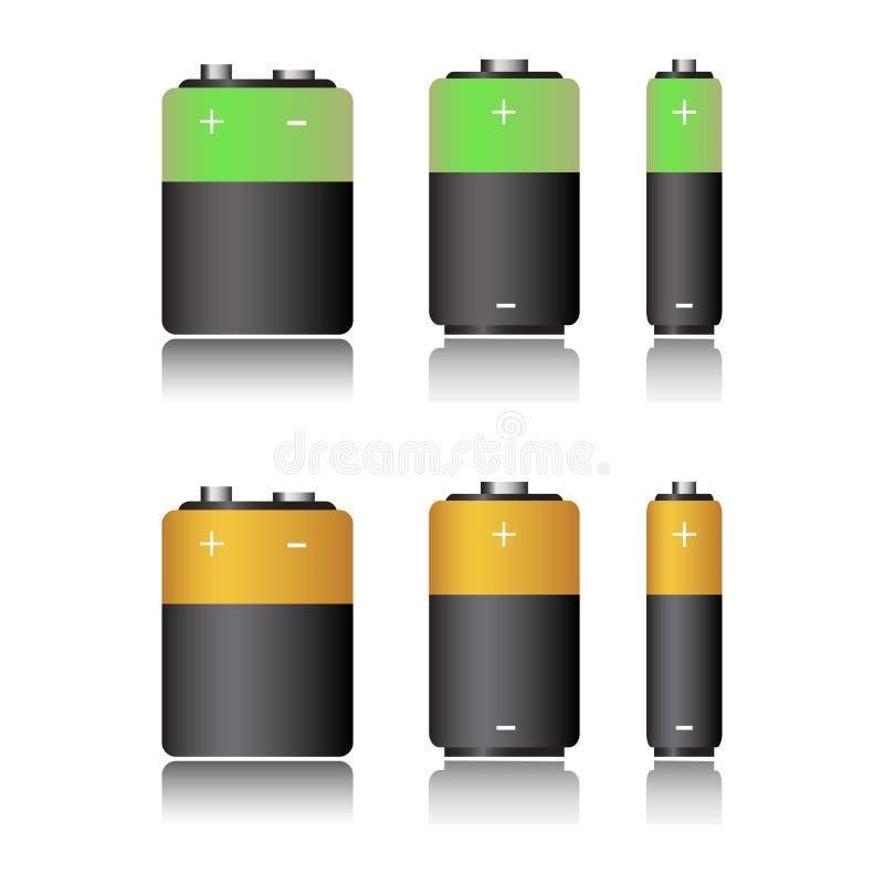Insieme della batteria illustrazione vettoriale