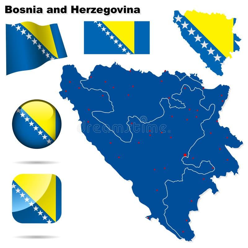 Insieme della Bosnia-Erzegovina. royalty illustrazione gratis