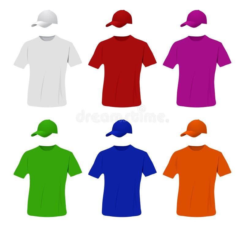Insieme della camicia e del berretto da baseball royalty illustrazione gratis