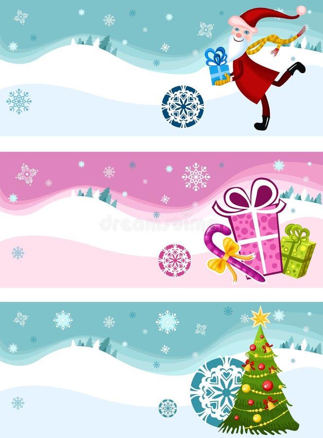 Insieme della cartolina di Natale illustrazione di stock