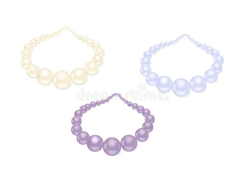 Insieme della collana della perla royalty illustrazione gratis