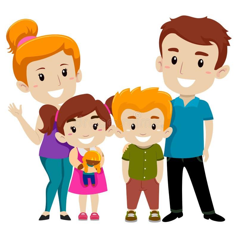 Insieme della famiglia felice illustrazione di stock