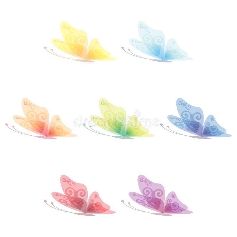 Insieme della farfalla per il vostro disegno illustrazione di stock
