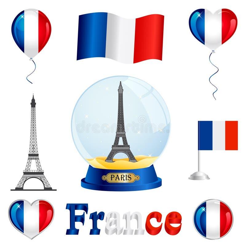 Insieme della Francia fotografie stock libere da diritti
