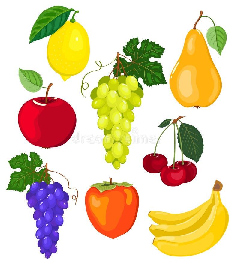 Insieme della frutta. royalty illustrazione gratis