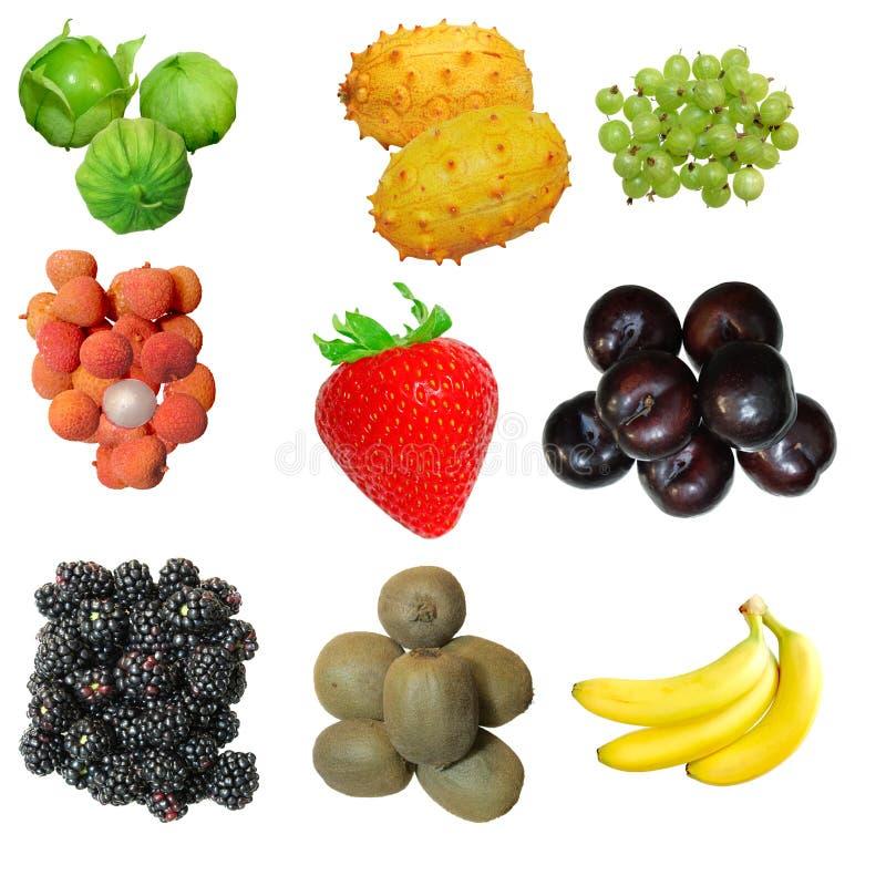 Insieme della frutta immagini stock