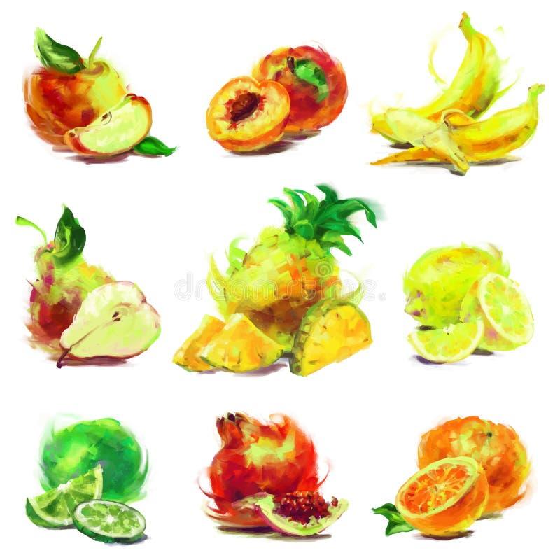 Insieme della frutta del disegno illustrazione vettoriale