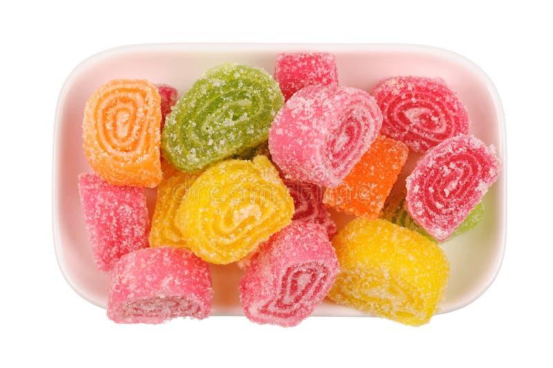 Insieme della gelatina di frutta candita immagine stock libera da diritti