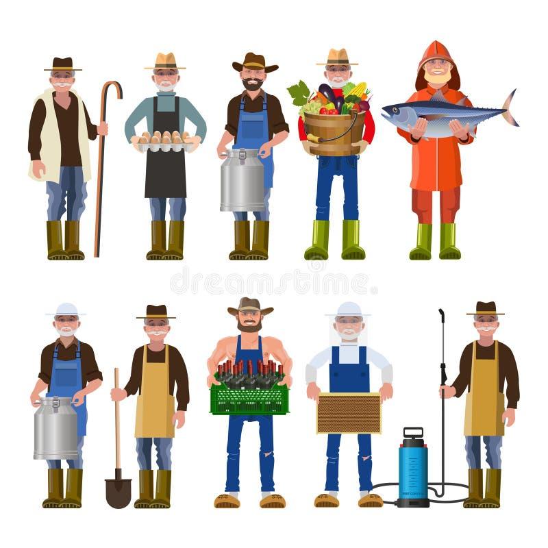 Insieme della gente delle professioni differenti illustrazione di stock
