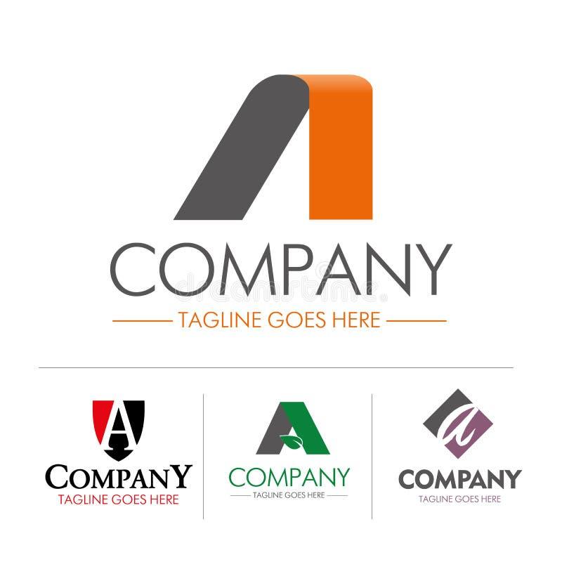 Insieme della lettera A di logo illustrazione di stock
