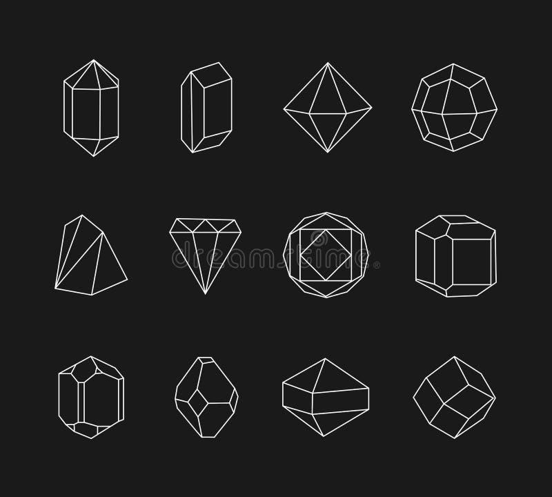 Insieme della linea forme geometriche per il logo royalty illustrazione gratis