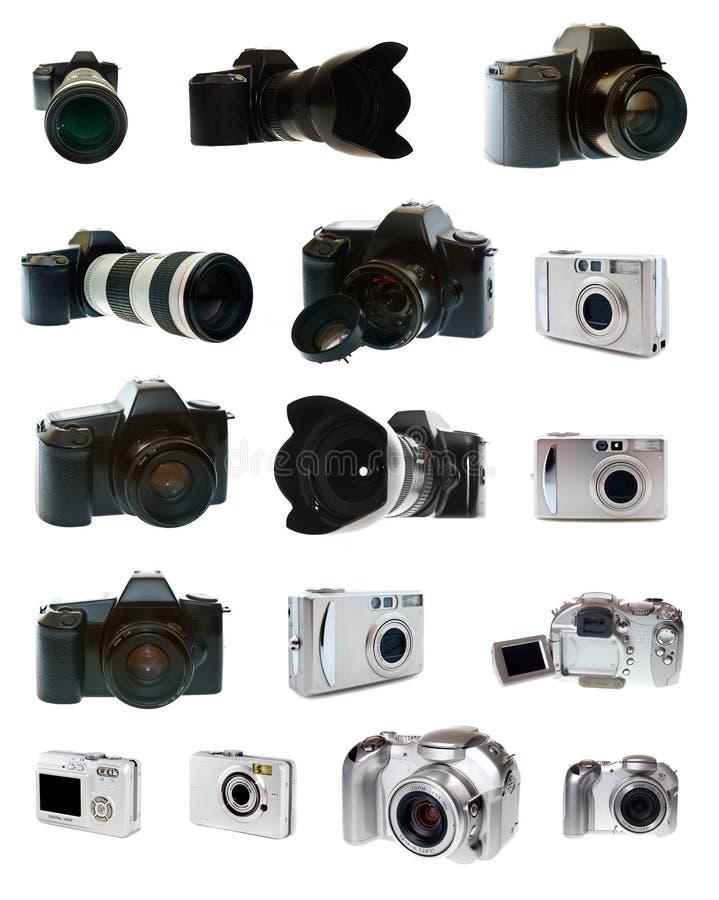 Insieme della macchina fotografica della foto grande immagine stock