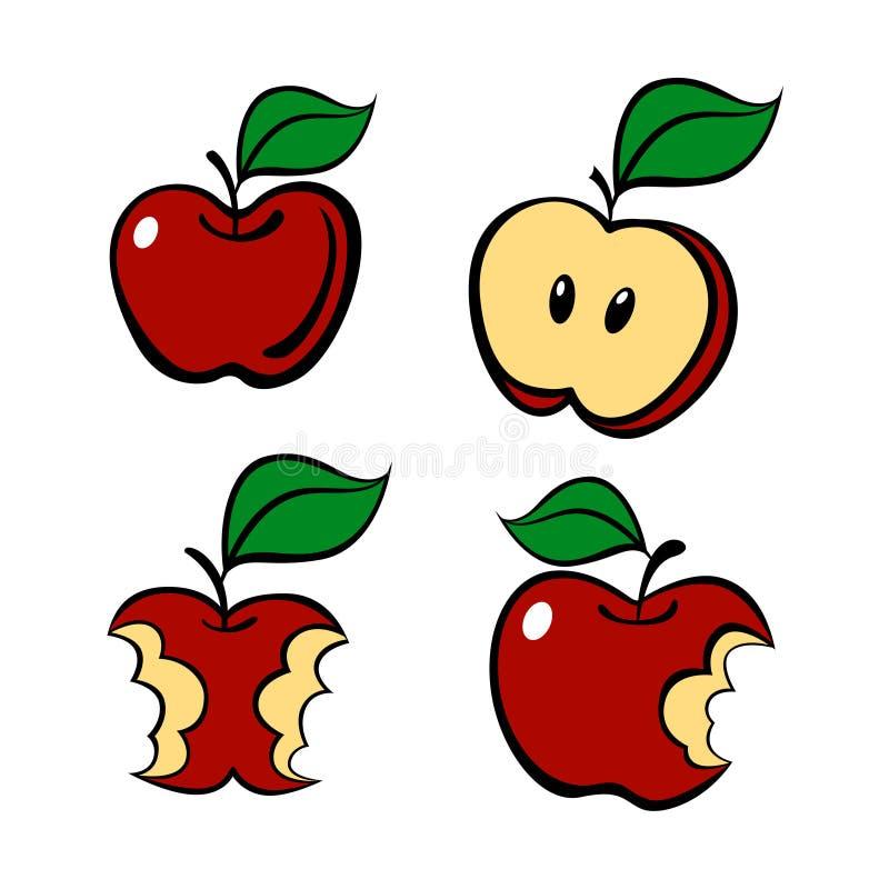 Insieme della mela della pittura, vettore illustrazione vettoriale
