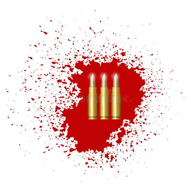 Insieme della pallottola isolato royalty illustrazione gratis