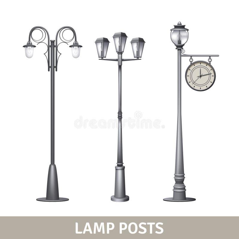 Insieme della posta della lampada royalty illustrazione gratis