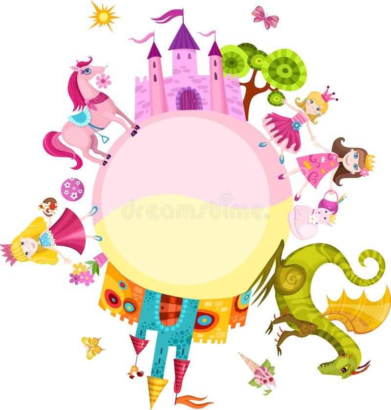 Insieme della principessa royalty illustrazione gratis