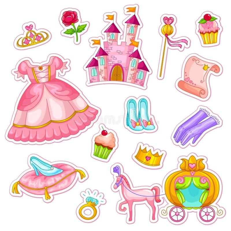 Insieme della principessa illustrazione vettoriale
