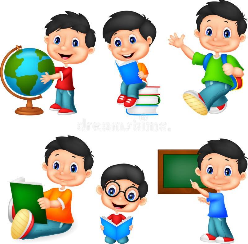 Insieme della raccolta del ragazzino del fumetto illustrazione di stock