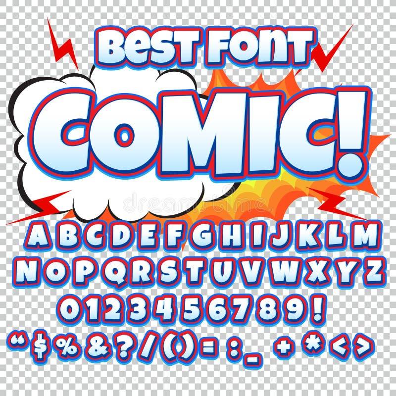 Insieme della raccolta di alfabeto schiocco comico art - Colore per numeri per i bambini ...