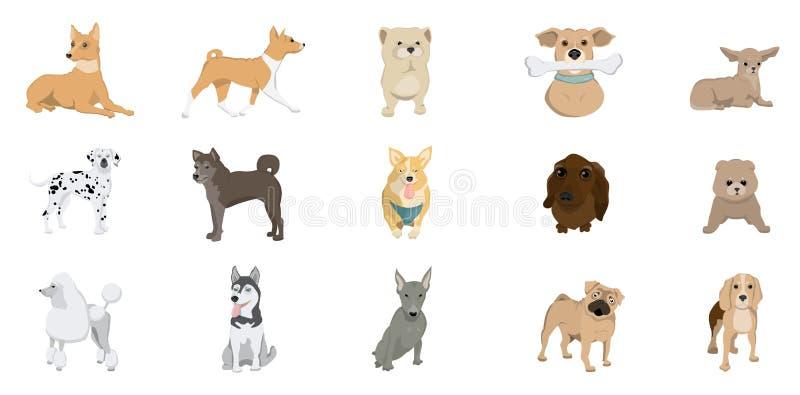 Insieme della razza dei cani royalty illustrazione gratis