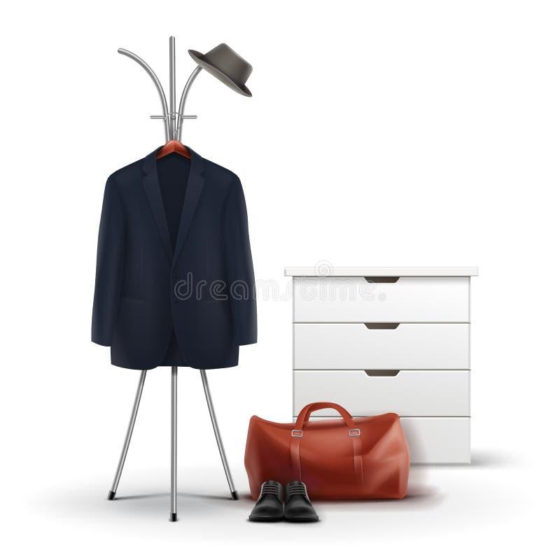Insieme della roba del guardaroba royalty illustrazione gratis
