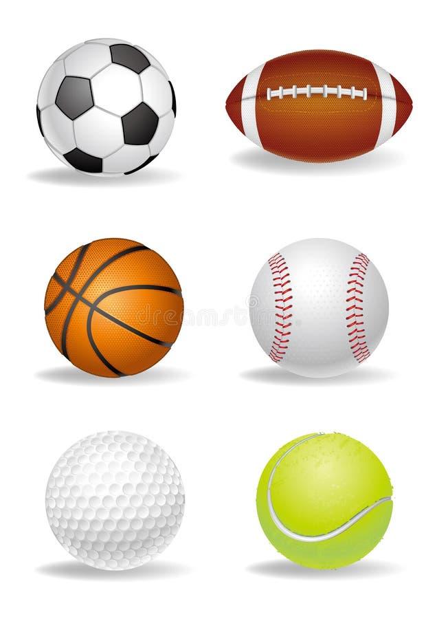 insieme della sfera di sport illustrazione vettoriale
