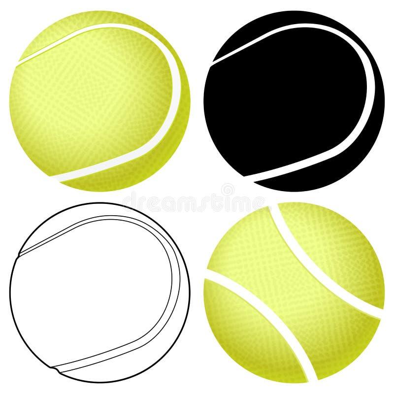 Insieme della sfera di tennis illustrazione vettoriale