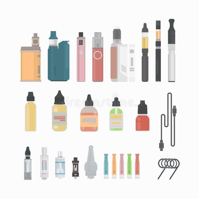 Insieme della sigaretta di Vaping illustrazione vettoriale