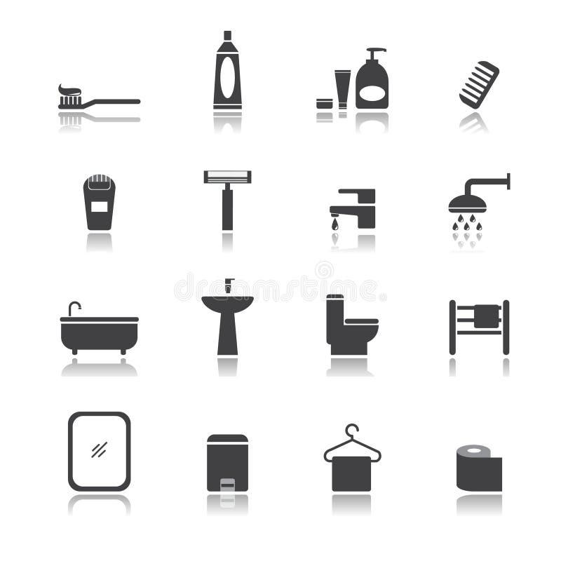 Insieme della stanza del bagno royalty illustrazione gratis