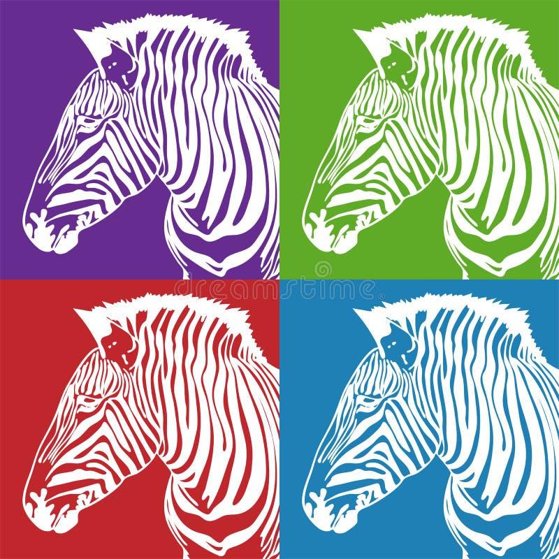 Insieme della zebra immagini stock libere da diritti
