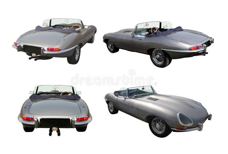 Insieme delle automobili sportive convertibili - E-Tipo del giaguaro fotografia stock libera da diritti