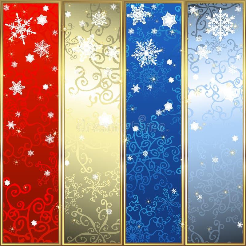 Download Insieme Delle Bandiere Di Natale Illustrazione Vettoriale - Illustrazione di natale, nuovo: 7300840