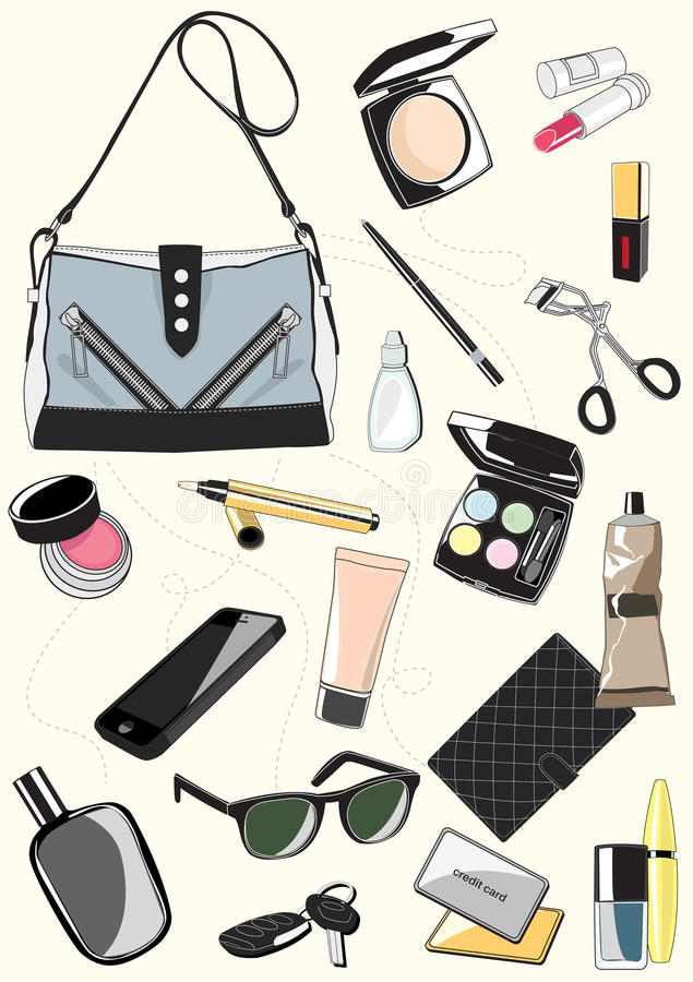 Insieme delle borse delle signore royalty illustrazione gratis