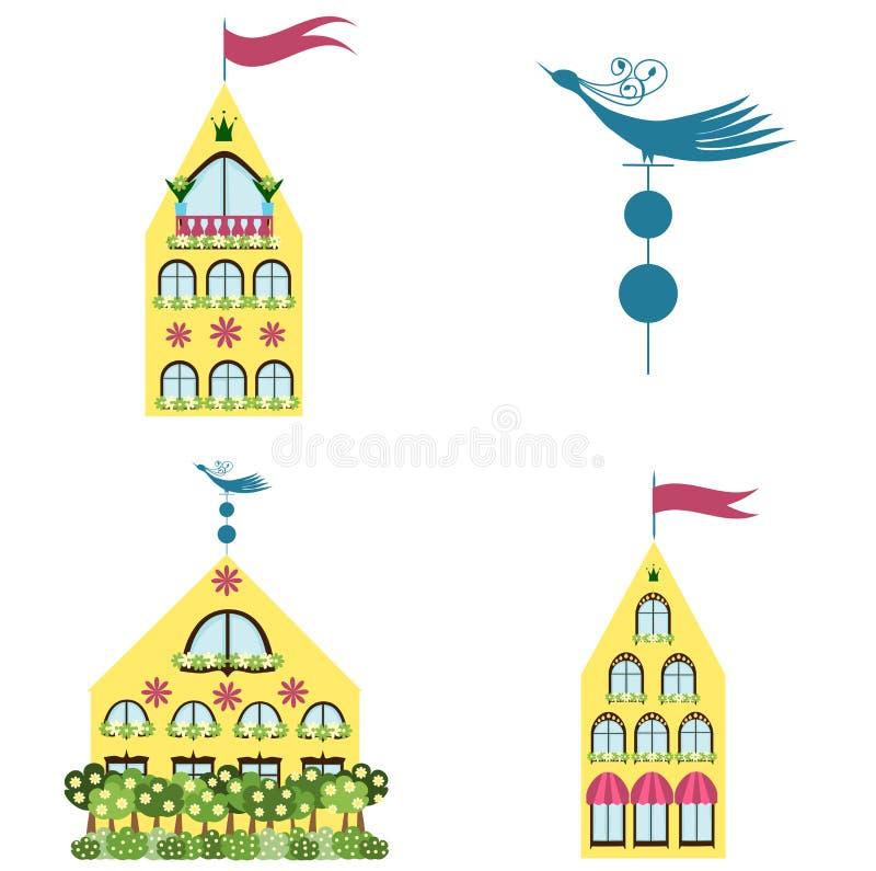 Insieme delle case illustrazione di stock
