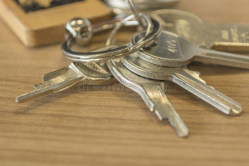 Insieme delle chiavi domestiche dettagliate immagini stock libere da diritti