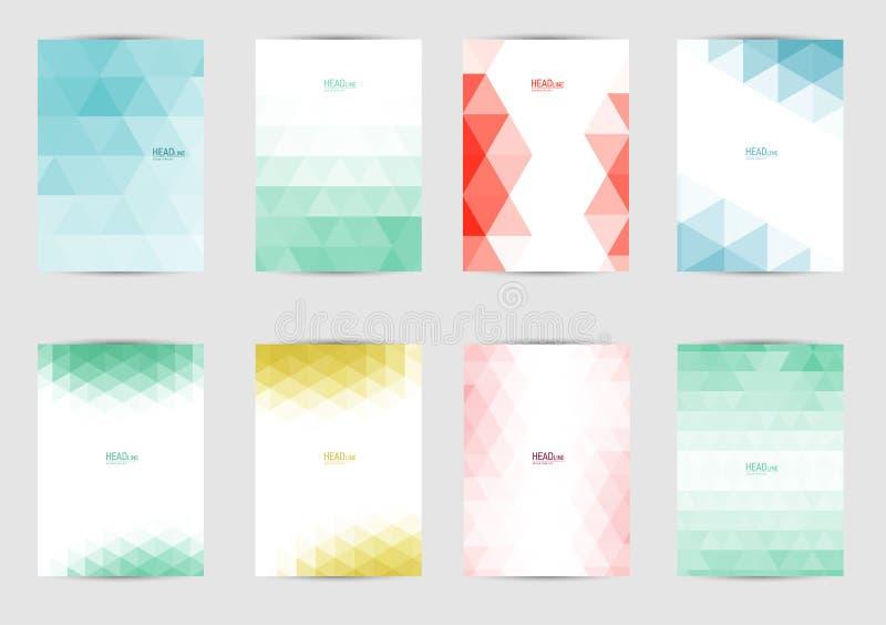 Insieme delle coperture dei modelli per l'aletta di filatoio, opuscolo, insegna, opuscolo, libro, dimensione A4 Progettazione del fotografia stock