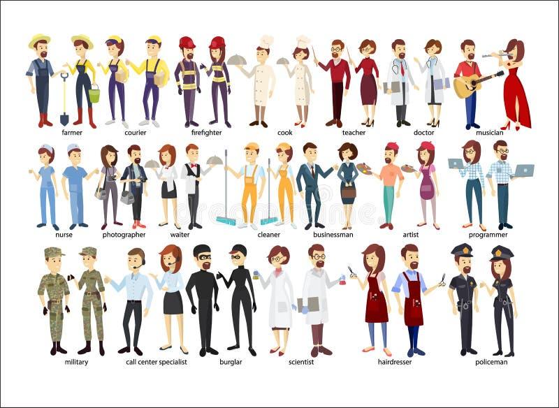 Insieme delle coppie di professione royalty illustrazione gratis