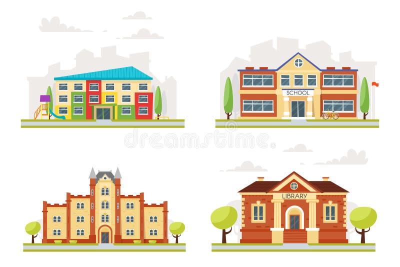 Insieme delle costruzioni educative royalty illustrazione gratis